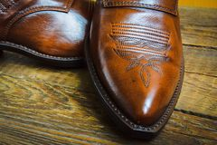 Cowboy shoes Royalty Free Stock Image