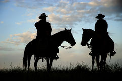Cowboy silhouette Stock Photo