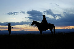 Cowboy silhouette Stock Photo