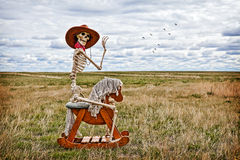Cowboy Skeleton Royalty Free Stock Images