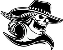 Cowboy Skull Stock Photography