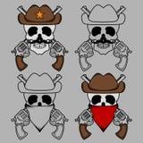 Cowboy Skull Mascot Stock Photo