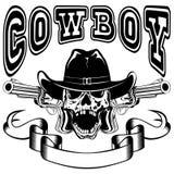 Cowboy skull var 3 Stock Photos