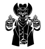 Cowboy Skull Vector Illustration Photos libres de droits