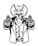 Cowboy Skull Vector Illustration Royalty Free Stock Photo