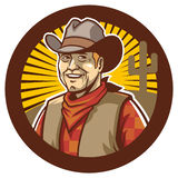Cowboy smile Royalty Free Stock Photography