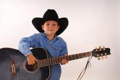 Cowboy solitário sete Imagens de Stock Royalty Free