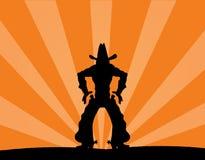 Cowboy solo illustrazione vettoriale