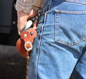 Cowboy with spurs Stock Photography