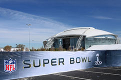 Cowboy-Stadion-Super Bowl-Zeichen Stockfotos