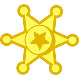 Cowboy star badge royalty free stock photos