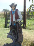 cowboy statue Stock Photography