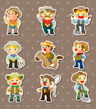 Cowboy stickers Stock Images