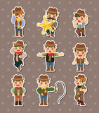Cowboy stickers Royalty Free Stock Photo