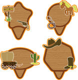 Cowboy stickers set. Western American cowboy stickers set Royalty Free Stock Photo
