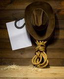 Cowboy still life Royalty Free Stock Photos