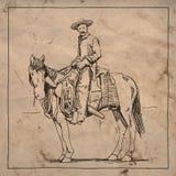 Cowboy sul cavallo Fotografia Stock Libera da Diritti