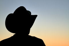 Cowboy at Sunset Royalty Free Stock Images