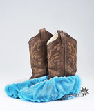 Cowboy Surgical Boots. Royalty Free Stock Photos