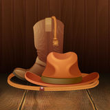 Cowboy symbol poster Royalty Free Stock Photo