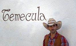Cowboy in Temecula Royalty Free Stock Photography