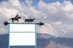 Cowboy Theme Sign Stock Photos