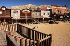 Cowboy Town royalty-vrije stock afbeelding