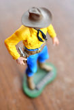 Cowboy toy figure royalty free stock photo