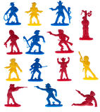 Cowboy toys plastic figurines Stock Image