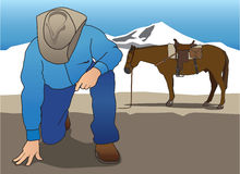 Cowboy Tracker 2 Royalty Free Stock Images