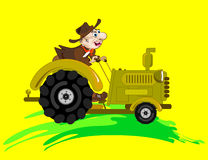 Cowboy - tractor-driver Stock Images