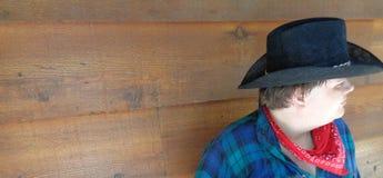 Cowboy tranquille Moment - horizontal images libres de droits