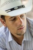 Cowboy triste Images stock