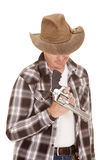 Cowboy twirl gun on finger Stock Image