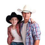 Cowboy Uncle and Nephew Stock Image