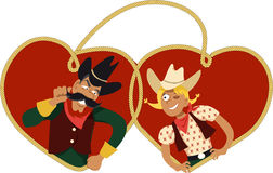 Cowboy Valentine`s Day Royalty Free Stock Images