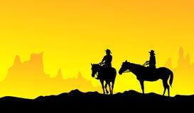 Cowboy-vector Royalty-vrije Stock Foto's