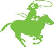 Cowboy vert illustration stock