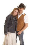Cowboy vest woman jacket together Royalty Free Stock Image