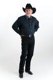 Cowboy vestido na sarja de Nimes Imagens de Stock Royalty Free