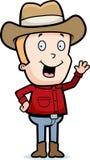 Cowboy-Wellenartig bewegen Stockbilder