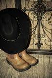 Cowboy Western Boots e cappello Fotografia Stock