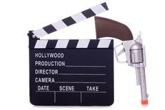 Cowboy western movie clapper board cutout Stock Photos