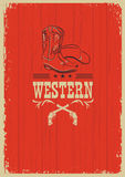 Cowboy western red background for design Stock Images