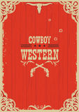 Cowboy Western Red Background With Guns Stock Images