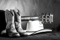 Cowboy Western Scene Arkivbilder