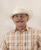 Cowboy in white hat Royalty Free Stock Photo