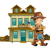 Cowboy - wild west - illustration for the children. The happy and colorful illustration for the children Royalty Free Stock Images