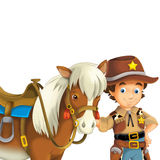 Cowboy - wild west - illustration for the children Stock Image