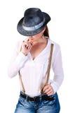 Cowboy woman Royalty Free Stock Photos